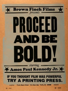 Poster for Proceed and Be Bold