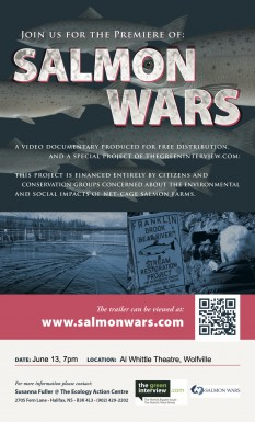 Poster for Salmon Wars: Aquaculture, Wild Fish and the Future of Communities