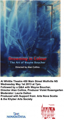 Poster for Drowning in Colour: The Art of Wayne Boucher