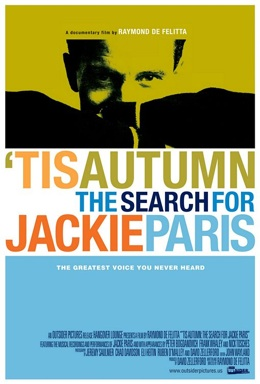 Poster for 'Tis Autumn: The Search for Jackie Paris