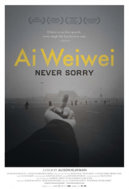 Poster for Al Weiwei: Never Sorry